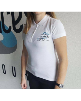 Polo People Blanc Femme TAILLE S